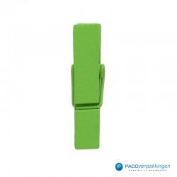 Houten knijper - Groen - Groot - Zijaanzicht