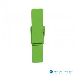 Houten knijper - Groen - Klein - Zijaanzicht