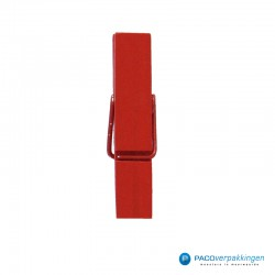 Houten knijper - Rood - Klein - Zijaanzicht