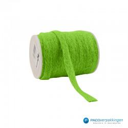 Jute lint - Groen - Vooraanzicht