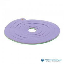 Opvulmateriaal - Swirl van zijdepapier - Lila, geel en groen - Achteraanzicht