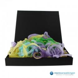 Opvulmateriaal - Swirl van zijdepapier - Lila, geel en groen - Toepassing