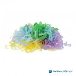 Opvulmateriaal - Swirl van zijdepapier - Lila, geel en groen- Open