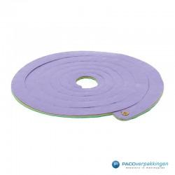 Opvulmateriaal - Swirl van zijdepapier - Lila, geel en groen - Vooraanzicht