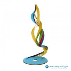 Opvulmateriaal - Swirl van zijdepapier - Paars, roze, geel en groen - Opengeklapt