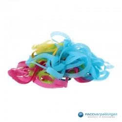 Opvulmateriaal - Swirl van zijdepapier - Paars, roze, geel en groen - Open