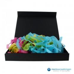 Opvulmateriaal - Swirl van zijdepapier - Paars, roze, geel en groen - Toepassing