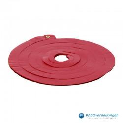 Opvulmateriaal - Swirl van zijdepapier - Rood, wit en goud - Achteraanzicht