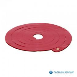 Opvulmateriaal - Swirl van zijdepapier - Rood, wit en goud - Vooraanzicht