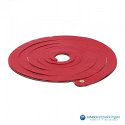 Opvulmateriaal - Swirl van zijdepapier - Rood, wit en zilver - Vooraanzicht