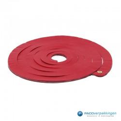 Opvulmateriaal - Swirl van zijdepapier - Rood, wit en zilver - Zijaanzicht