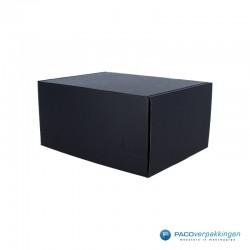 Postdozen met klepsluiting - Zwart mat - Hoofdafbeelding