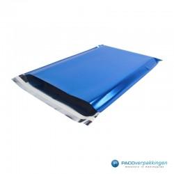 Verzendzakken - Blauw Glans - Luxe - Hoofdafbeelding