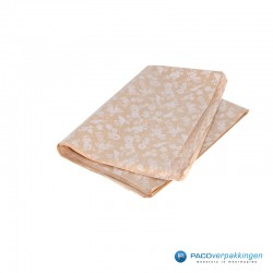 Zijdepapier - Lente - Beige op bruin - Zijaanzicht