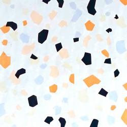 Zijdepapier - Terrazzo - Multikleur op wit - close up