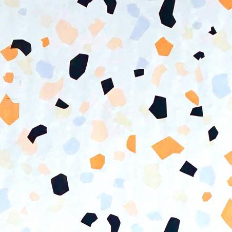 Zijdepapier - Terrazzo - Multikleur op wit