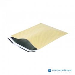 Verzendzakken - A4 - Witte Stippen op Geel - Luxe - Zijaanzicht open