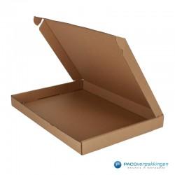 Brievenbusdozen - Bruin - Maximaal formaat (voor Luxe Magneet Brievenbusdoos) - Zijaanzicht open