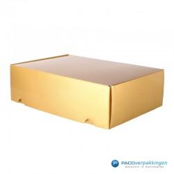 Postdozen met klepsluiting A4+ - Goud Glans - Premium - zijaanzicht