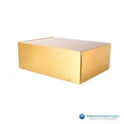 Postdozen met klepsluiting A3 - Goud Glans - Premium - zijaanzicht