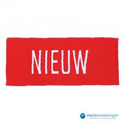 Kleding labels - Rood - NIEUW - Textiel - vooraanzicht