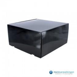 Postdozen met klepsluiting - Zwart Glans - Premium-zijkant