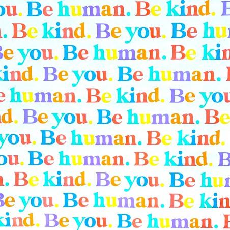 Zijdepapier - Be Human - Multikleur op wit