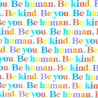 Zijdepapier - Be Human - Multikleur op wit - Close up