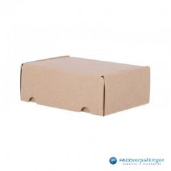 Postdozen met klepsluiting - Bruin - A6-zijaanzicht dicht