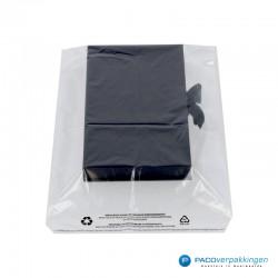 LDPE zakken met kleefstrip - A4+ - Transparant - Recycle-met inhoud