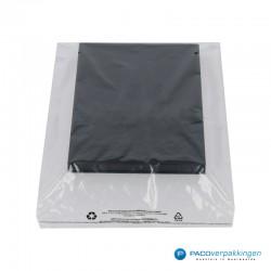 LDPE zakken met kleefstrip - Transparant - Recycle