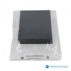 LDPE zakken met kleefstrip - A3+ - Transparant - Recycle