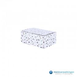 Postdozen met plakstrip en retoursluiting - A5 - Wit mat met edelstenen dessin - Autolock-zijkant dicht