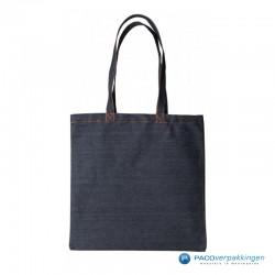 Denim tassen - Donkerblauw - Vooraanzicht