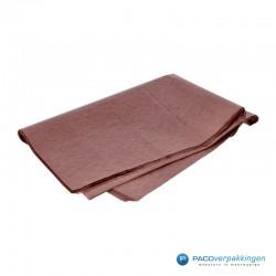 Zijdepapier - Chocoladebruin-zijkant