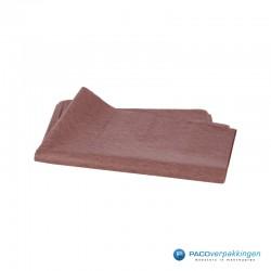 Zijdepapier - Chocoladebruin-achterkant