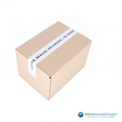 Verpakkingstape - Signed, Sealed, Delivered - Zwart op wit - Toepassing