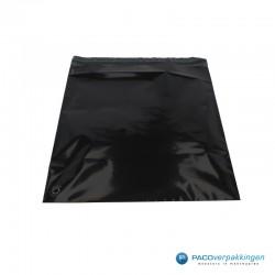 Verzendzakken - Zwart - 30% Recycle - Retoursluiting - Premium - Achteraanzicht open