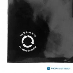 Verzendzakken - Zwart - 30% Recycle - Retoursluiting - Premium - Logo