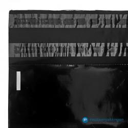 Verzendzakken - Zwart - 30% Recycle - Retoursluiting - Premium - Sluiting