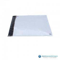 Verzendzakken - Wit/grijs - A3 - 70% Recycle - Retoursluiting - Zijaanzicht 2