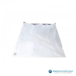 Verzendzakken - Wit/grijs - A2+ - 70% Recycle - Retoursluiting - Achteraanzicht