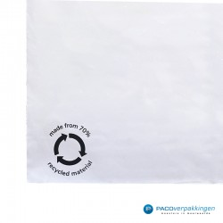 Verzendzakken - Wit/grijs - 70% Recycle - Retoursluiting - XXXL - Logo