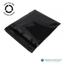 Verzendzakken - Zwart - 30% Recycle - Retoursluiting - Premium - Tumbnail