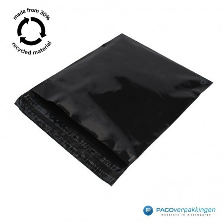 Verzendzakken - Zwart - 30% Recycle - Retoursluiting - Premium