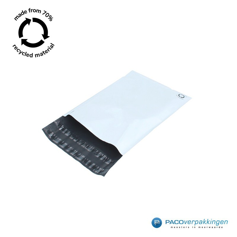 Verzendzakken - Wit/grijs - A4+ - 70% Recycle - Retoursluiting - Tumbnail