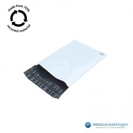 Verzendzakken - Wit/grijs - A4+ - 70% Recycle - Retoursluiting