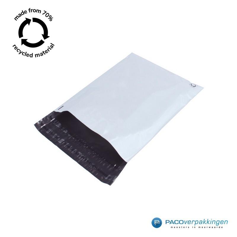Verzendzakken - Wit/grijs - A3 - 70% Recycle - Retoursluiting - Tumbnail