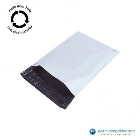 Verzendzakken - Wit/grijs - A3 - 70% Recycle - Retoursluiting