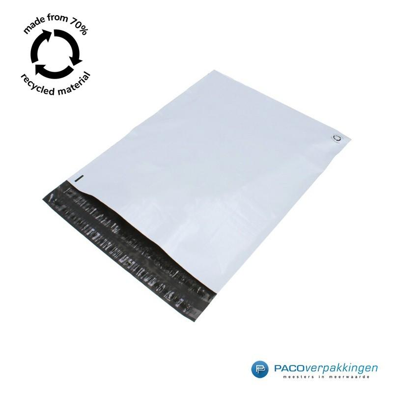 Verzendzakken - Wit/grijs - 70% Recycle - Retoursluiting - Tumbnail